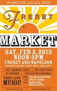 Freret Street Market Flier Feb